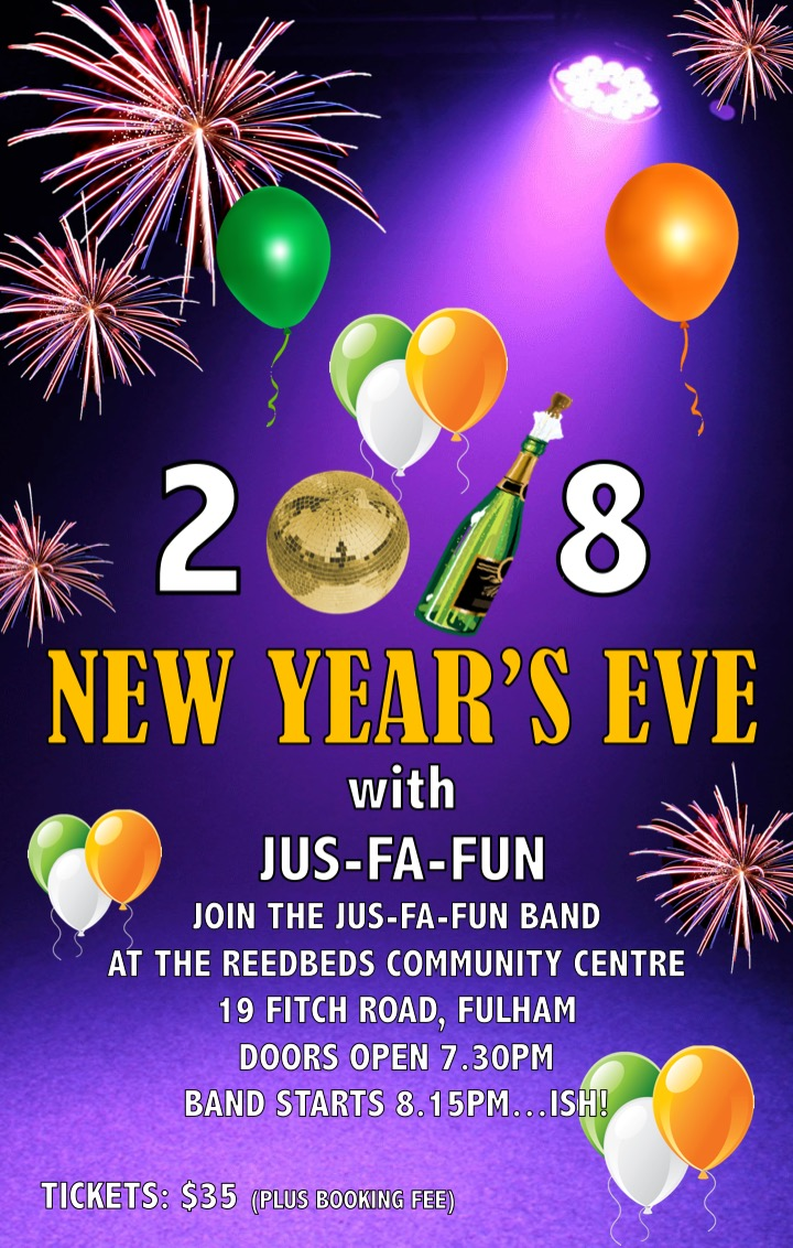 BOOKINGS FOR NEW YEAR'S EVE NOW OPEN!